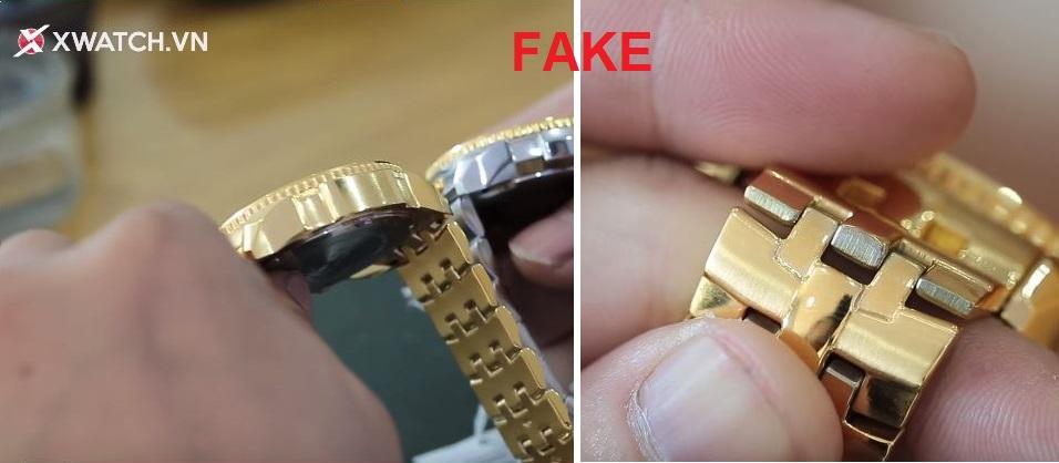 Cách phân biệt đồng hồ chính hãng qua dây đeo